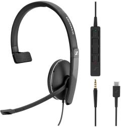 Sennheiser SC 135 USB-C monaural mit Abnehmbarer In-Line Call Control