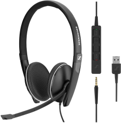 Sennheiser SC 165 USB binaural mit abnehmbarer In-Line Call Control