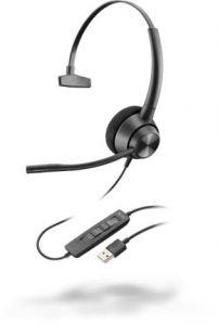 Poly EncorePro 310, USB-A - 300 Series - Headset - On-Ear - kabelgebunden - USB