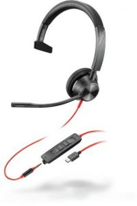 Poly Blackwire 3315-M Headset, monaural, kabelgebunden, USB-C und 3,5 mm Klinke, Microsoft Teams Taste