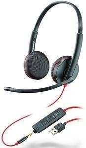 Plantronics Headset Blackwire C3225 binaural USB & 3,5 mm Klinke