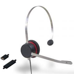 Avaya L129 Headset Monaural, Schnurgebunden für alle Avaya 16xx, 96xx, J100 Serie, Vantage Serie und H175