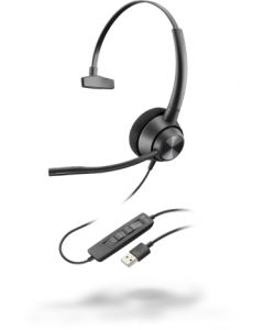 Poly EncorePro 310, USB-A - 300 Series - Headset - On-Ear - kabelgebunden - USB