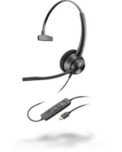 Poly EncorePro 310, USB-C - 300 Series - Headset - On-Ear - kabelgebunden - USB