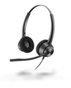 Poly Plantronics EncorePro 320, QD - 300 Series - Headset - On-Ear - kabelgebunden - Quick Disconnect