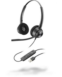 Poly EncorePro 320, USB-A - 300 Series - Headset - On-Ear - kabelgebunden - USB
