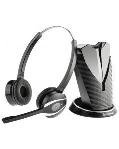 freeVoice Fox FX810 Duo DECT - binaurales schnurloses Headset
