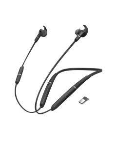 Jabra Evolve 65e UC binaural inkl. Link 370, Bluetooth-Headset Unified Communications-zertifiziert